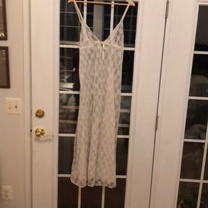 Women's cream lace intimate/night gown.
